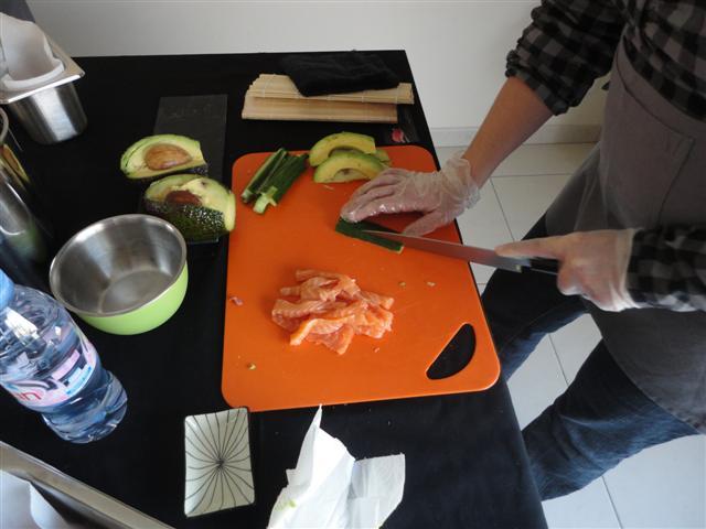Cours de sushis - La découpe