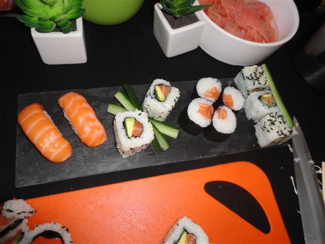 Le plateau de sushis épuré