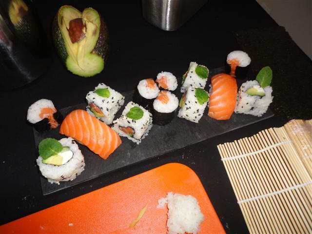 Le pateau de sushis design
