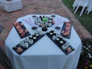 Buffet sushis dans une villa