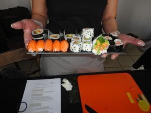 Un plateau de sushis avancé