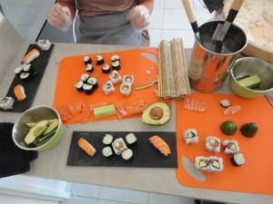 Cours de sushis à domicile