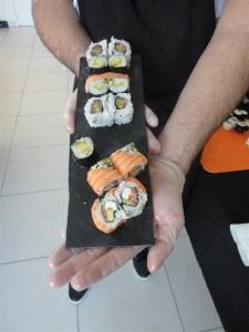 Le plateau sushis de Sylvain