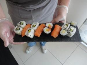 Le plateau sushis de Mayeul
