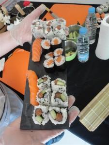 Les résultats d'un atelier sushi Sushiprod
