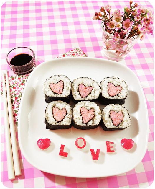Sushi pour la Saint Valentin 2016