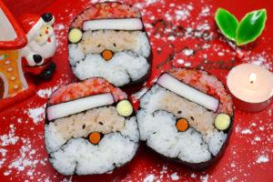 Sushi de noel